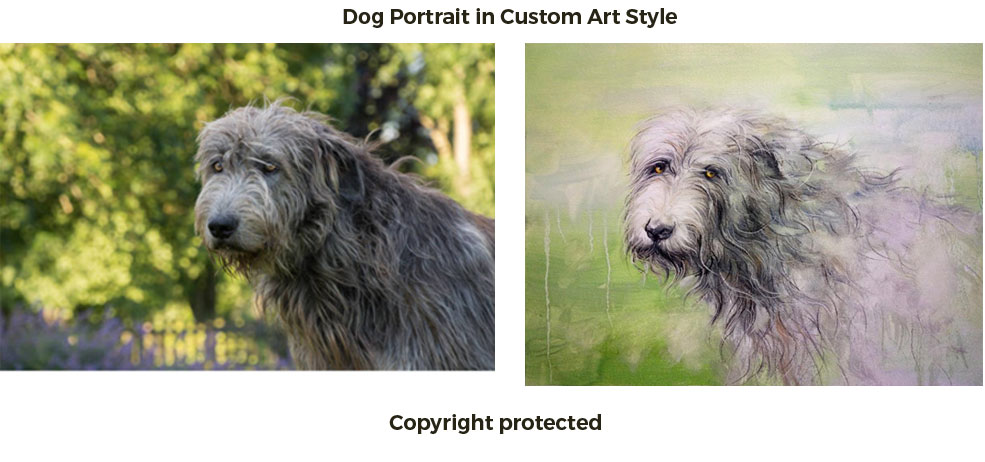Pet portrait in artistic style