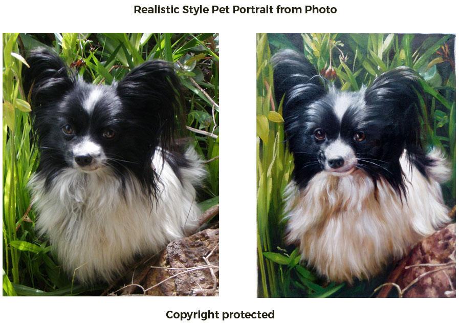 Pet portrait in realistic style