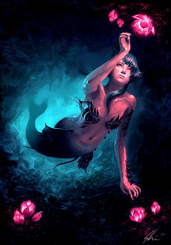 Mermaid Paintings N003