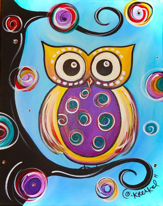 Owl Paintings N001