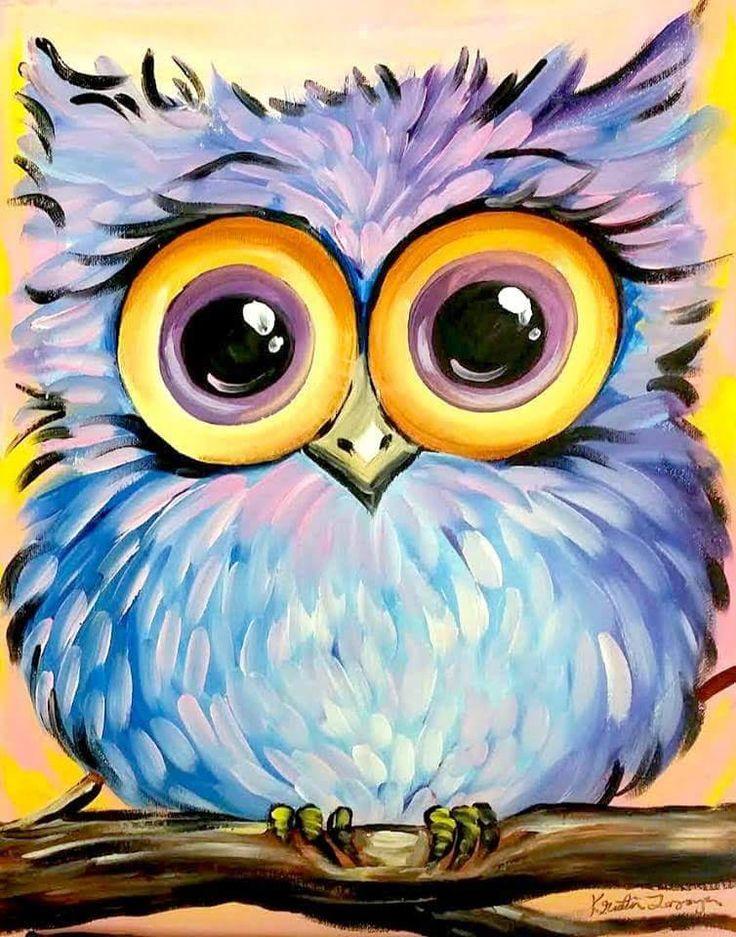 Owl Paintings N002