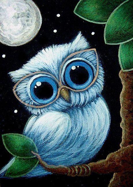 Owl Paintings N003