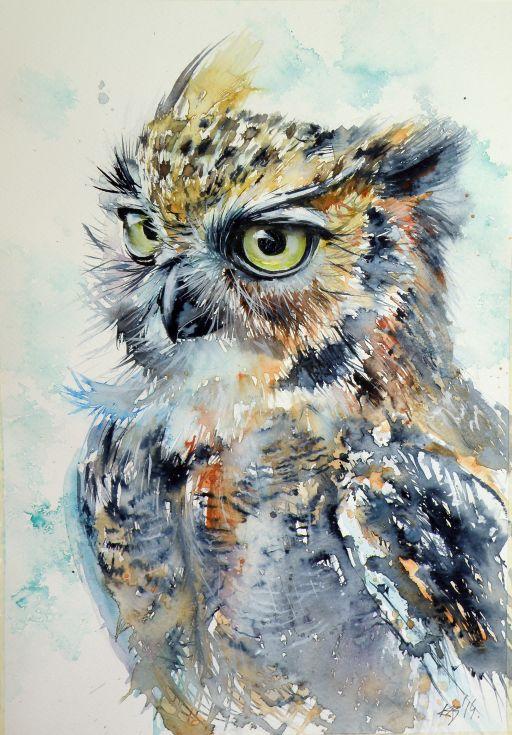 Owl Paintings N004