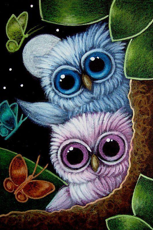 Owl Paintings N006