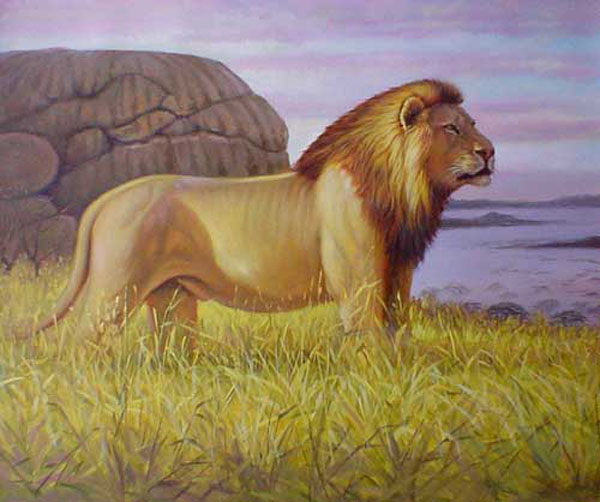 Lion paintings for sale
