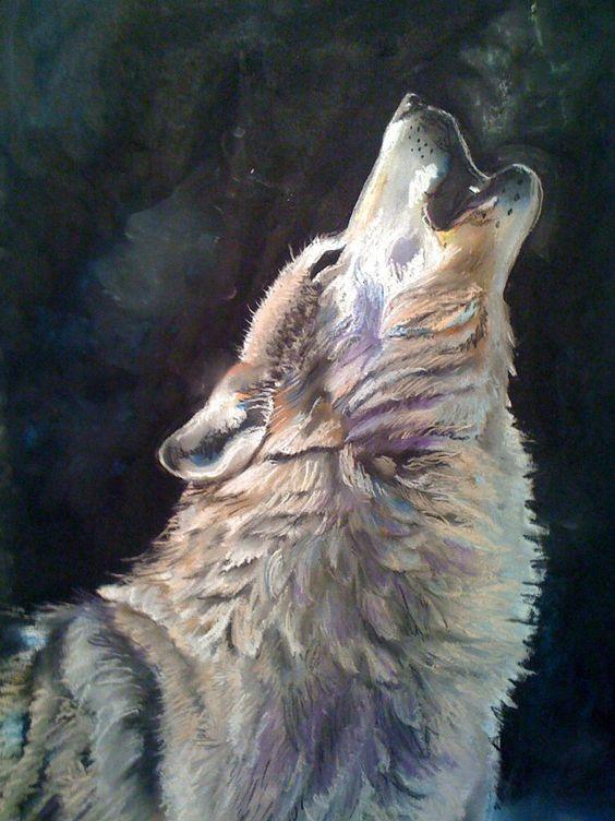 Wolf Paintings N002