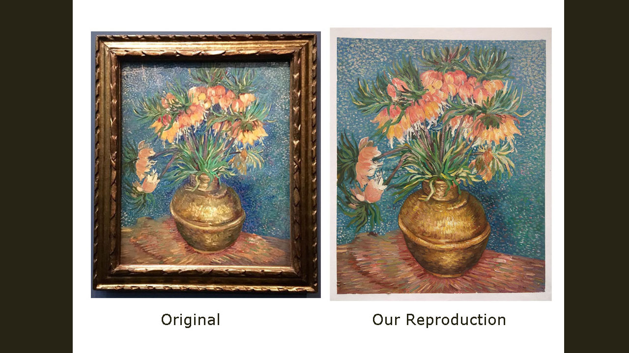 Van Gogh Flower Reproduction